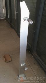 玻璃外挂模式的单板实心不锈钢立柱DY-8136实拍