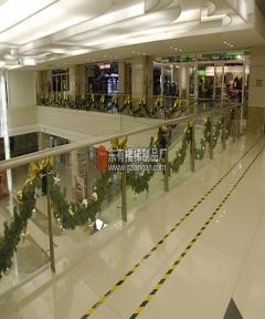 中华广场中庭商场栏杆个性化立柱