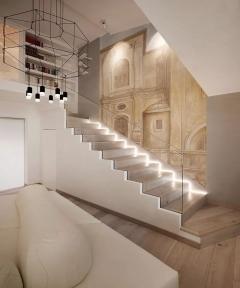 为什么要设计灯带?楼梯踏步在灯的环绕下更显魅力!